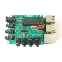 Raspberrypi 7x Current Sensor Adaptor - 1 Voltage - emoncms